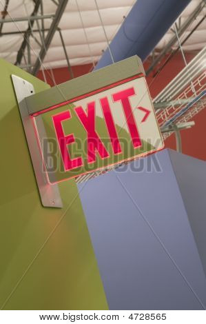 Building Exit Sign