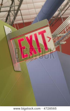Building Exit Sign
