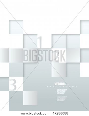 eps10 vector embossed metallic blocks infographic design