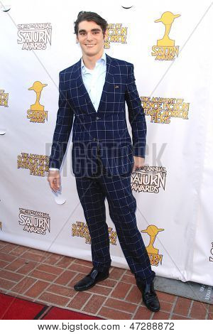 BURBANK - JUN 26: R J Mitte at the 39th Annual Saturn Awards held at Castaways on June 26, 2013 in Burbank, California