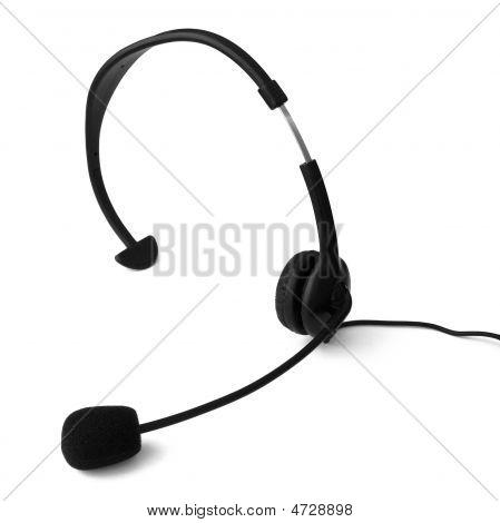 Headset On White Background