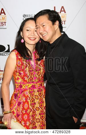 "LOS ANGELES - JUN 23:  Ken Jeong arrives at  ""The Way Way Back"" Premiere as part of the Los Angeles Film Festival at the Regal Cinemas on June 23, 2013 in Los Angeles, CA"
