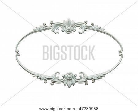 Oval Wood Frame