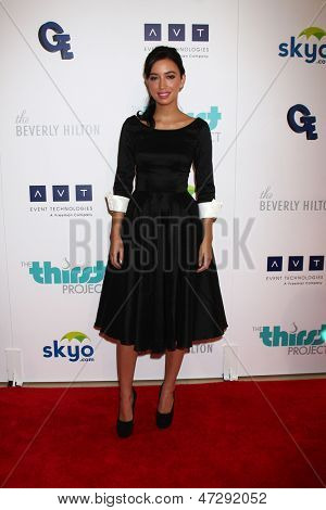 LOS ANGELES - JUN 25:  Christian Serratos arrives at the 4th Annual Thirst Gala at the Beverly Hilton Hotel on June 25, 2013 in Beverly Hills, CA