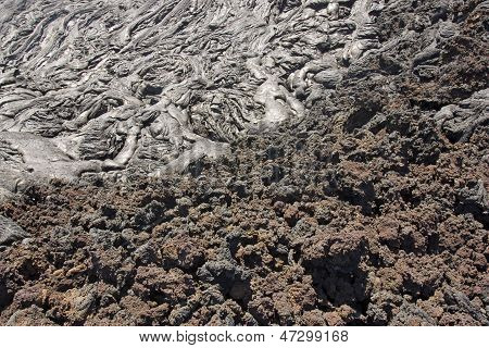 Aa And Pahoehoe Lava