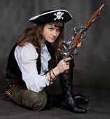 picture of crossed pistols  - Girl  - JPG