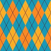 Постер, плакат: Синие и желтые Аргайл