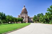 image of granite dome  - Texas State Capitol Building in Downtown Austin on a Sunny Day - JPG