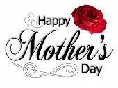 pic of special day  - Mothers Day Card with text rose and ornament - JPG