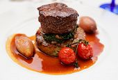 stock photo of chateaubriand  - Tenderloin steak with vegetables - JPG