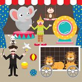 picture of circus clown  - Circus Elements Set - JPG
