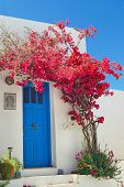 stock photo of greek-island  - Traditional greek door on Sifnos island Greece - JPG