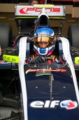 MOSCOW - JUNE 23: Nikolay Martsenko of Pons R Team (ESP) ready for start at World Series by Renault