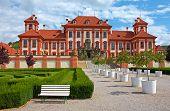 stock photo of manor  - Chateau Troja manor house - JPG