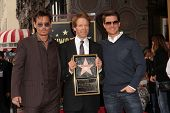 LOS ANGELES - JUN 24:  Johnny Depp, Jerry Bruckheimer, Tom Cruise at  the Jerry Bruckheimer Star on