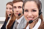 image of telemarketing  - Call center operators at work - JPG