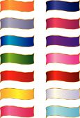 stock photo of snipe  - A collection of decorative multicolored ribbons - JPG