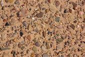 pic of sedimentation  - Picture of fluvial sediments taken in Death Valley - JPG