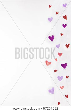 Hearts on Tulle-ing Border