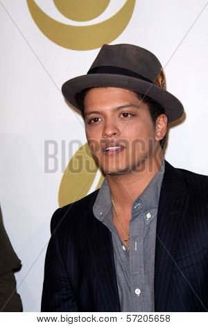 Bruno Mars at the  Grammy Nominations Concert Live, Club Nokia, Los Angeles, CA. 12-01-10