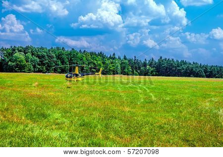 Helicopter On The Meadow