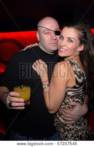 Eliot Sirota and Alicia Arden  at Bridgetta Tomarchio's Birthday Bash and Babes in Toyland 3rd Annual Charity Event, Bar 210, Beverly Hills, CA. 12-03-10