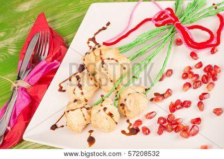 Valentines Day Flower Snack