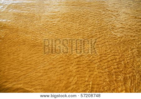 Sea Water And Bottom Background