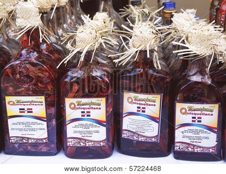 Mamajuana souvenir bottles in Punta Cana, Dominican Republic
