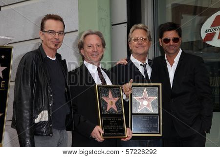 Billy Bob Thornton, Dewey Bunnell, Gerry Beckley, John Stamos at the America Star on the Walk of Fame Ceremony, Hollywood, CA 02-06-12