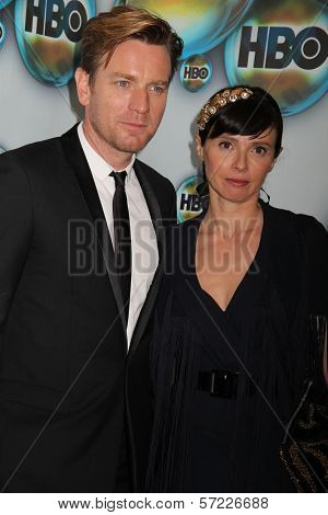 Ewan McGregor and wife at the HBO 2012 Golden Globe Awards Post Party, Beverly Hilton Hotel, Beverly Hills, CA 01-15-12