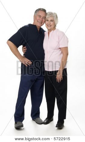 Mature Couple On White