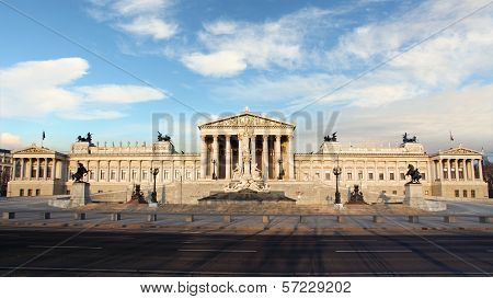 House Of Parliment In Vienna, Austria