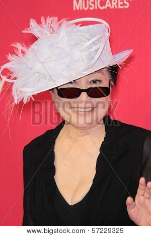 Yoko Ono at the 2012 MusiCares Person Of The Year honoring Paul McCartney, Los Angeles Convention Center, Los Angeles, CA 02-10-12