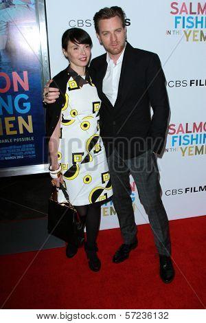 Eve Mavrakis and Ewan McGregor at the
