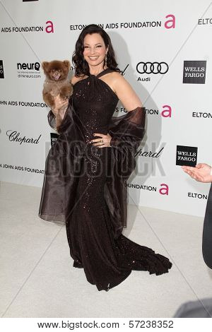Fran Drescher at the 20th Annual Elton John AIDS Foundation Academy Awards Viewing Party, West Hollywood Park, West Hollywood, CA 02-26-12