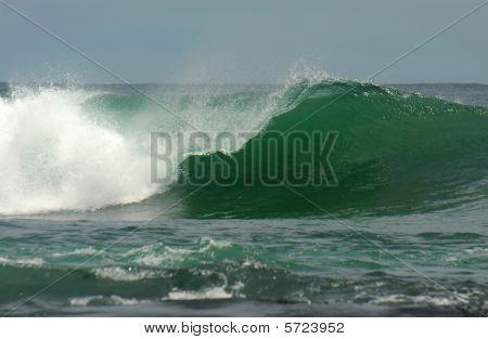 Wave Breaks In Ocean
