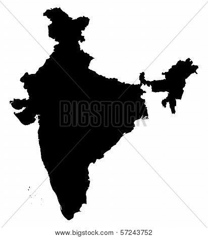 India Illustration Map