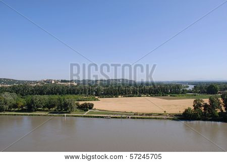 Rhone river, France