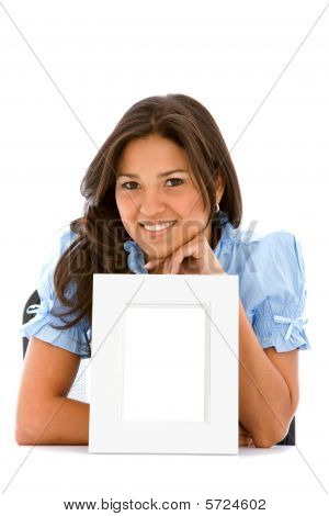 Woman With A Photo Frame