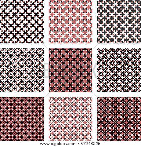 Set Of Design Seamless Colorful Diagonal Patterns