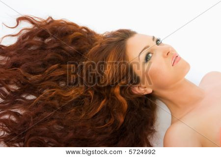 Red Haired Model In Studio