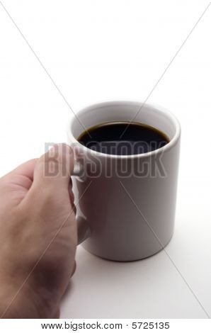 Hand Picking Up A Mug.