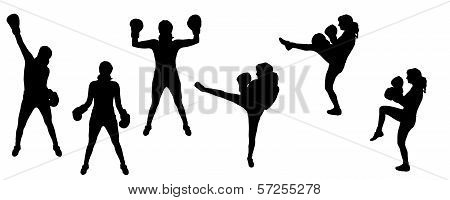 Vector silhouettes sport