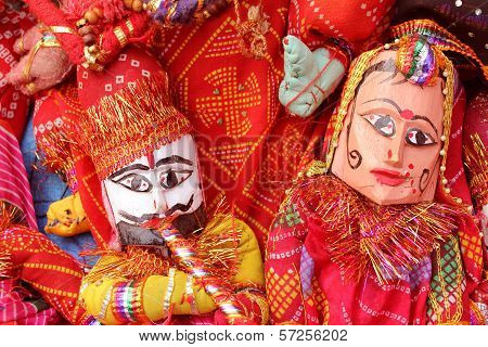 Dilli Haat, Rajasthani, Puppet Couple,