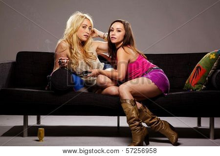 Jennifer Blanc and Danielle Harris On the Set of