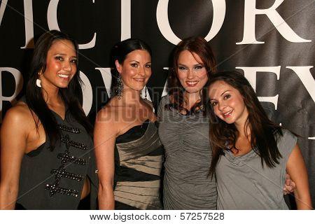 Milynn Sarley, Rileah Vanderbilt, Clare Grant, Laura Ortiz at the
