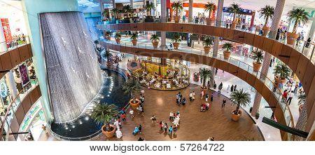 Waterfall In Dubai Mall - World's Largest Shopping Mall