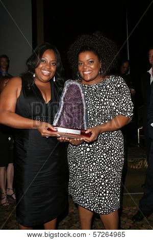 Sherri Shepherd and Yvette Nicole Brown  at the 2010 BraveHeart Awards, Hyatt Regency Century Plaza Hotel, Century City, CA.  10-09-10