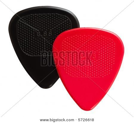 Two Ribbed Guitar Plectrums